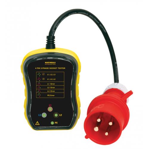Martindale PC104-63 63amp 3P+E Plug Phase Rotation Tester