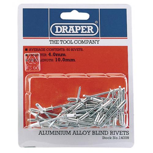 Draper 14009 4.0mmx10.0mm head length blind rivit's Pack of 50