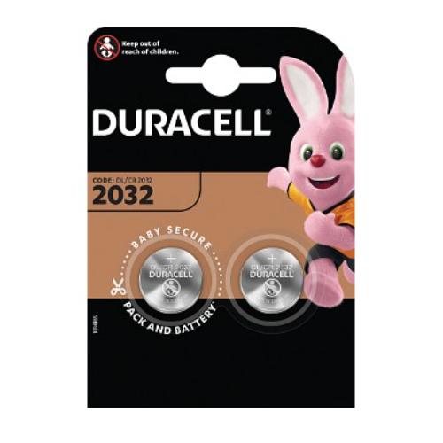 Duracell DL2032B2 3 volt lithium battery 2 Pack