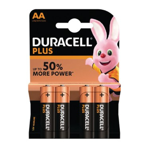 Duracell MN1500B4 PLUS AA type battery Pack of 4