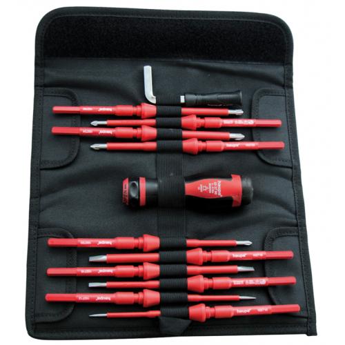 Haupa 102700/PZ VarioTQ 1000 Volt 12 Piece Torque Screwdriver Set