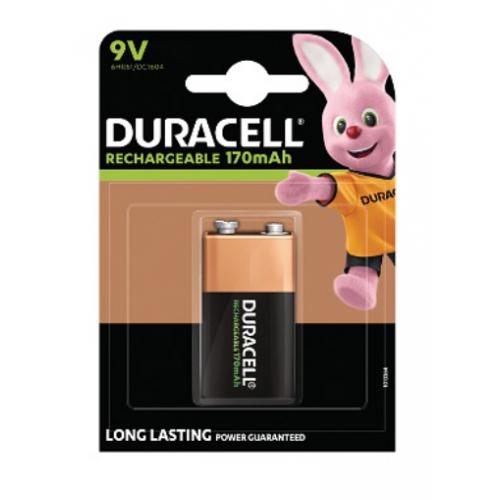 Duracell HR9V PK1 9V Rechargeable battery Pack=1