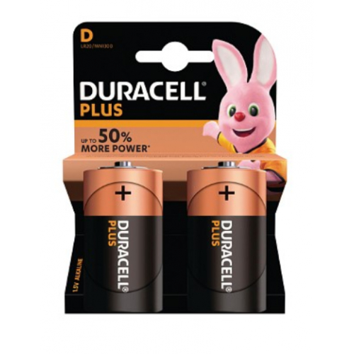 Duracell MN1300B2 PLUS D type battery Pack of 2