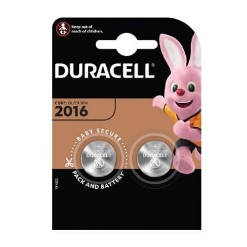 Duracell DL2016B2 3 volt Lithium battery 2 Pack