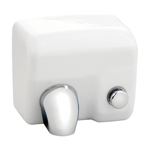 Anda 433136 T24M 2.4kw White Heavy Duty Manual Push Hand Dryer