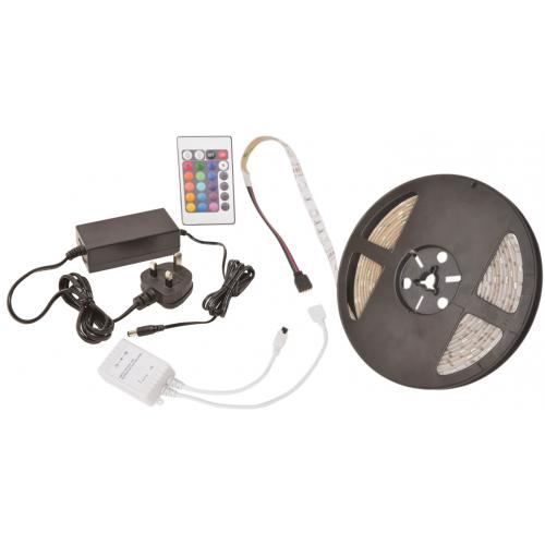 AVSL 153.727UK Red/Green/Blue LED IP65 12vdc 5m Tape Kit