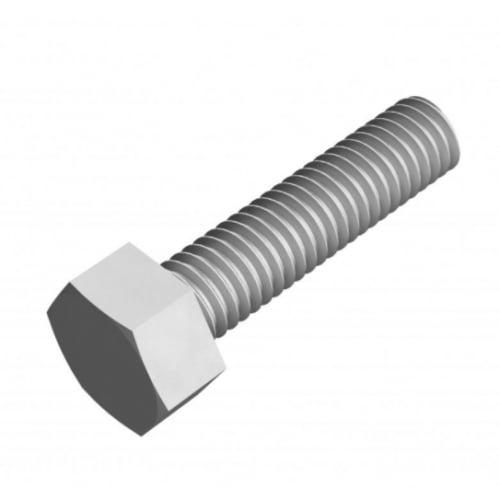 Bright Zinc Plated Washers /& Nylon Insert Nuts 2 x Set Screw Bolts M8 x 16mm