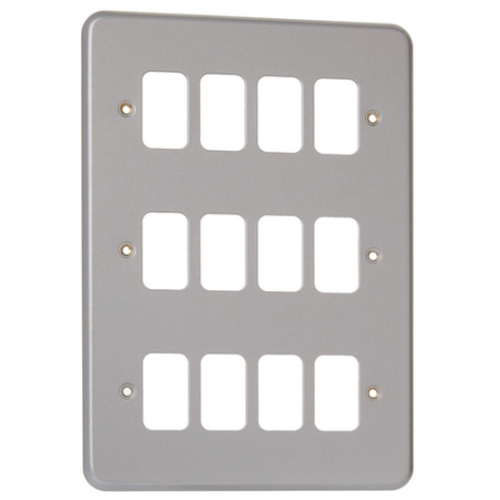 MK K3442BSS 12 Gang Brushed Stainless Steel Albany Plus Grid Plate
