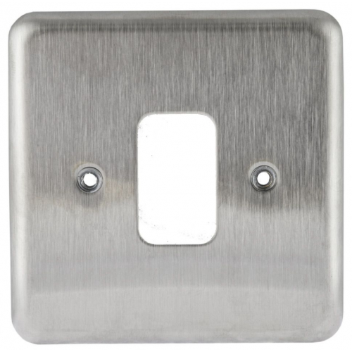 MK K3431BSS 1 Gang Brushed Stainless Steel Albany Plus Grid Plate