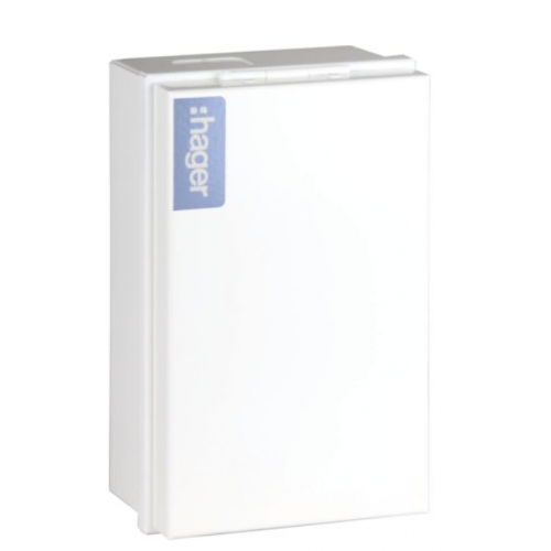 Hager VA4T2SDSPDD Enclosure with Type 2 SPD + 100a main switch+Door