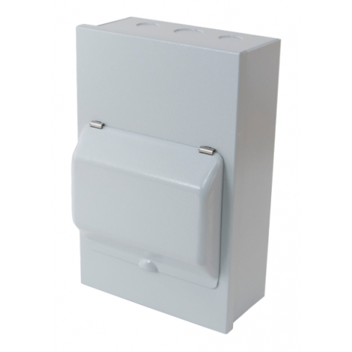 ECL MEC6M 6 Way Metal Enclosure with Metal Hinged Cover