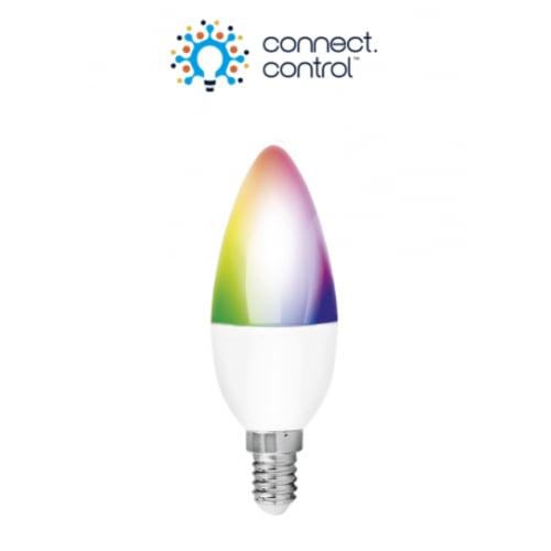 Aurora AU-A1BTE14CW A1-Bluetooth 5w SES RGB Candle Lamp