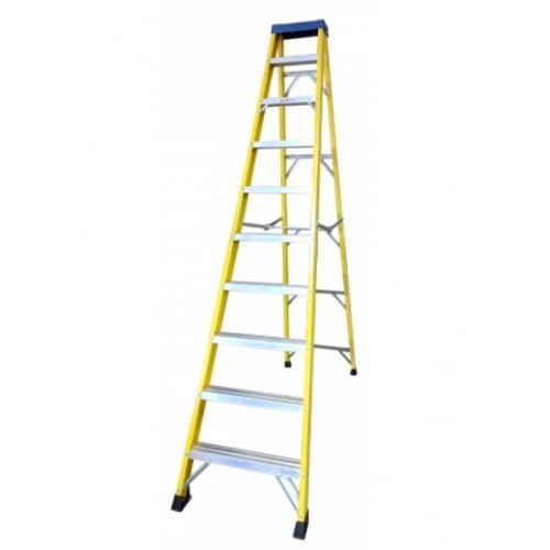 Deligo FLS10 10 Tread(9 Usable) Fibreglass Step Ladder 2.81m