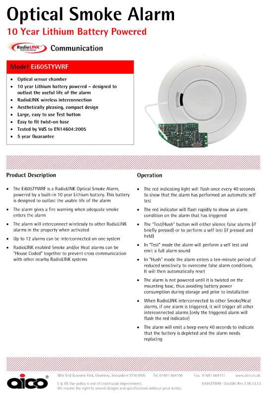 Aico Ei650rf Radiolink Optical Smoke Alarm 10 Year