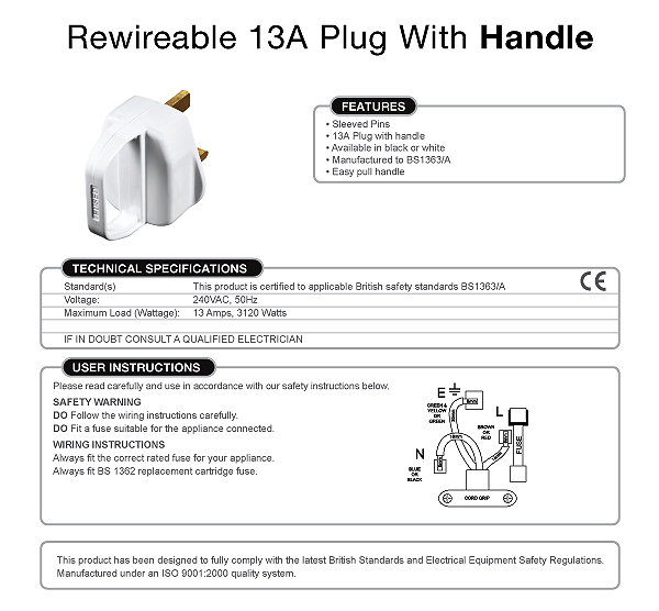 Swell Rsc 8298876 13A Fused Plug With Loop Handle For Ease Of Removal Wiring Database Pengheclesi4X4Andersnl